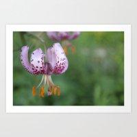Flowery purple single taste Art Print