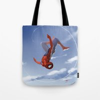 Web Head Tote Bag