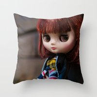 Penny My Middie Blythe  Throw Pillow