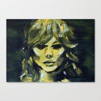 THE YELLOW QUICK PORTRAIT Canvas Print