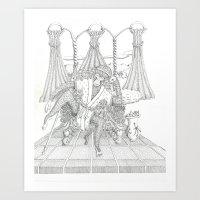 The Monkey King On His T… Art Print
