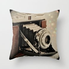 Vintage Camera Magic Throw Pillow