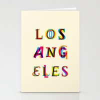 los angeles Stationery Cards featuring Los Angeles by Fimbis