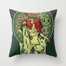 Zombie Nouveau Throw Pillow