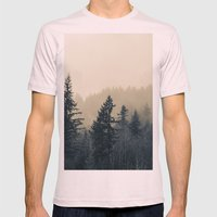 Mists of Noon Mens Fitted Tee Light Pink SMALL
