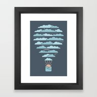 Framed Art Print featuring Weather Balloon by Rick Crane