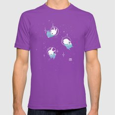 Space Bunnies Mens Fitted Tee Ultraviolet SMALL