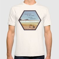 Footprints In The Sand Mens Fitted Tee Natural SMALL