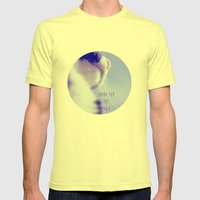 Thank You For You Mens Fitted Tee Lemon SMALL