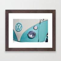Classic VW Camper Framed Art Print