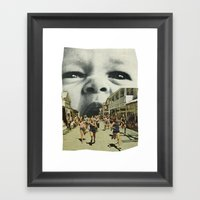 Young Hunger. Framed Art Print