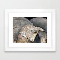 BULL HEAD Framed Art Print