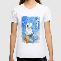 Polar Bear Inside Water Womens Fitted Tee Ash Grey SMALL