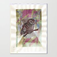 Bird Screenprint Canvas Print