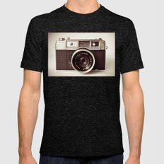 Camera Mens Fitted Tee Tri-Black SMALL