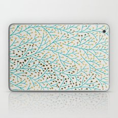 Berry Branches – Turquoise & Gold Laptop & iPad Skin