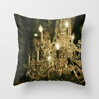 New Orleans Chandelier Throw Pillow