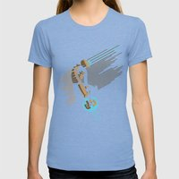 The Engineer Womens Fitted Tee Tri-Blue SMALL