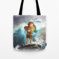 girl in the sea Tote Bag