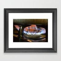 Flame Of Emotions Framed Art Print
