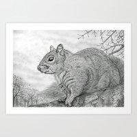 The Grey Peril Art Print