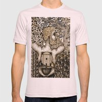 Cycles & Patterns Mens Fitted Tee Light Pink SMALL