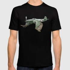 In which it's a bird. It's a plane. (Now in technicolour) SMALL Black Mens Fitted Tee