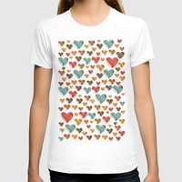 hearts T-shirts featuring Hearts by Eleaxart