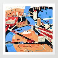 london Art Prints featuring London by Patrick O'Leary