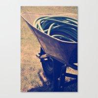 Yardwork Canvas Print