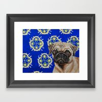 Puggy Framed Art Print