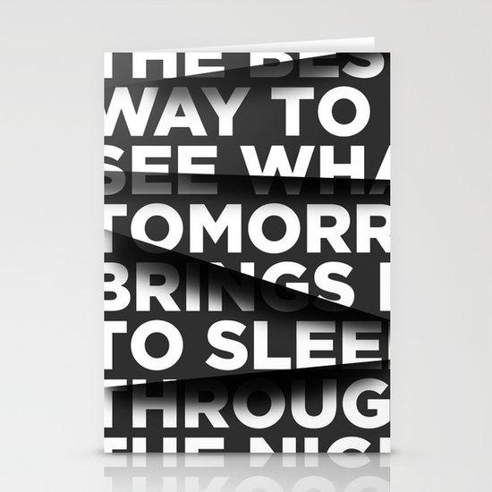 Sleep Through The Night Stationery Card