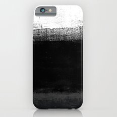 Ocean No. 2 - Minimal ocean abstract painting in black and white iPhone 6 Slim Case