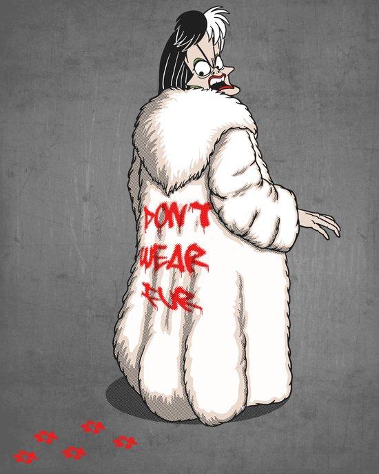 Don't wear fur! Art Print