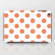 Polka Dots (Coral/White) iPad Case