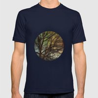 Psychadelic Tree Mens Fitted Tee Navy SMALL