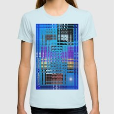 Photonic computers. Womens Fitted Tee Light Blue SMALL