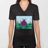 Life Swarms with Innocent Monsters Unisex V-Neck