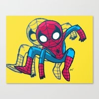 Does Whatever A Spider C… Canvas Print