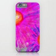 Bright Pink Sketch Flowe… iPhone 6 Slim Case