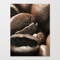 Coffee beans macro photo - fine art - still life - interior decoration, for bar & restaurant,  Canvas Print