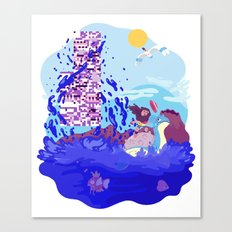 Tiny Worlds - Cinnabar Island Canvas Print