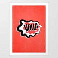Voila Art Print
