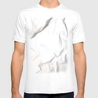 Crumpled Mens Fitted Tee White SMALL