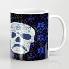 Comedy-Tragedy Sugar Skulls Cyan Mug