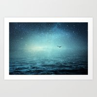 the sea and the universe Art Print