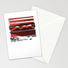 Red Terrain Stationery Cards