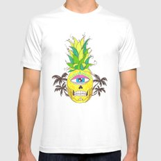 piña del mar White Mens Fitted Tee SMALL