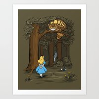 My Neighbor in Wonderland Art Print
