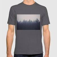 Forest in the Haze Mens Fitted Tee Asphalt SMALL